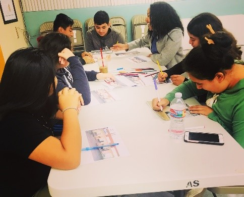 CBAM Staff Work With Local Youth Organization to Design Clinic Mural
